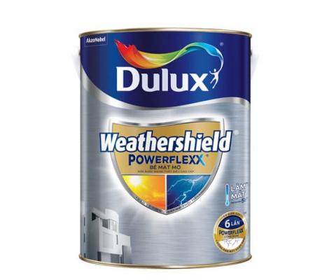 Sơn ngoại thất Dulux Weathershield Powerlexx  mờ - 5Lít
